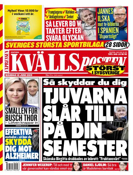 Kvällsposten June 10, 2019 00:00