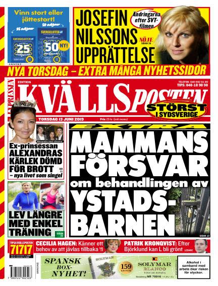 Kvällsposten June 13, 2019 00:00