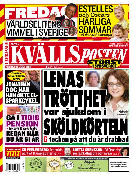 Kvällsposten June 14, 2019 00:00