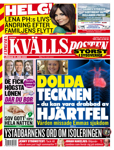 Kvällsposten June 15, 2019 00:00