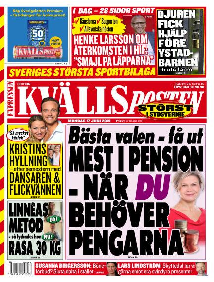 Kvällsposten June 17, 2019 00:00