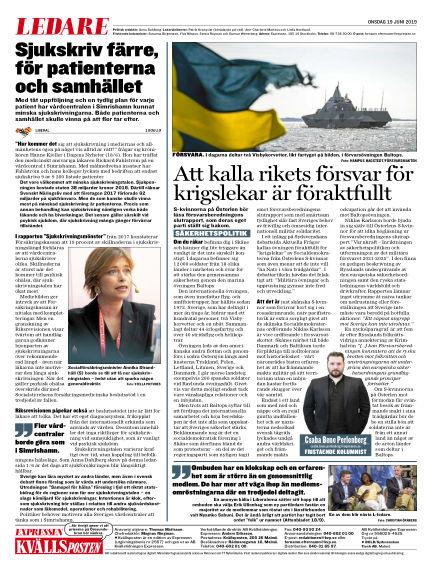 Kvällsposten June 19, 2019 00:00