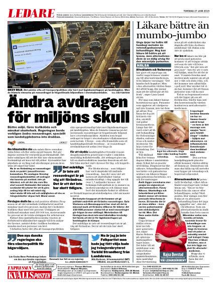 Kvällsposten June 27, 2019 00:00