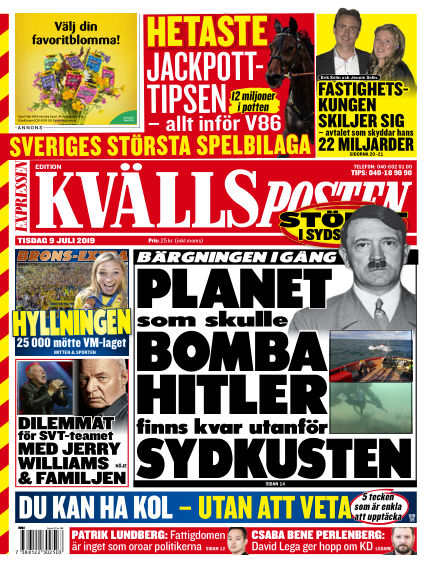 Kvällsposten July 09, 2019 00:00