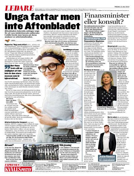 Kvällsposten July 12, 2019 00:00