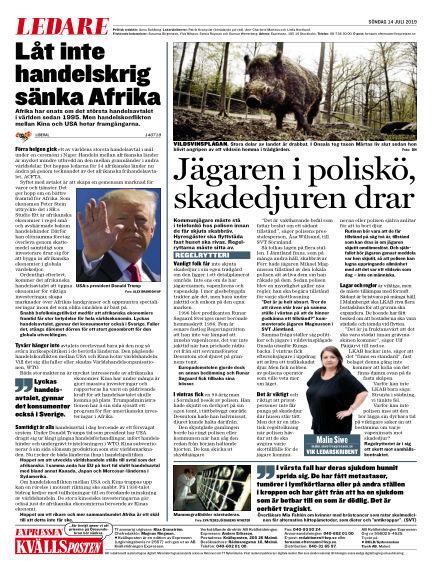Kvällsposten July 14, 2019 00:00