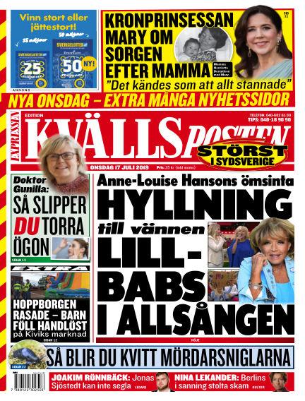 Kvällsposten July 17, 2019 00:00
