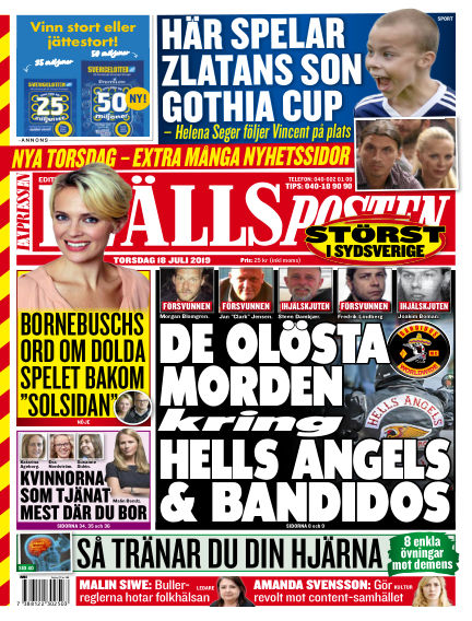 Kvällsposten July 18, 2019 00:00