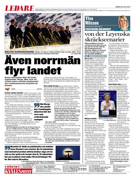 Kvällsposten July 20, 2019 00:00