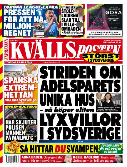 Kvällsposten July 25, 2019 00:00