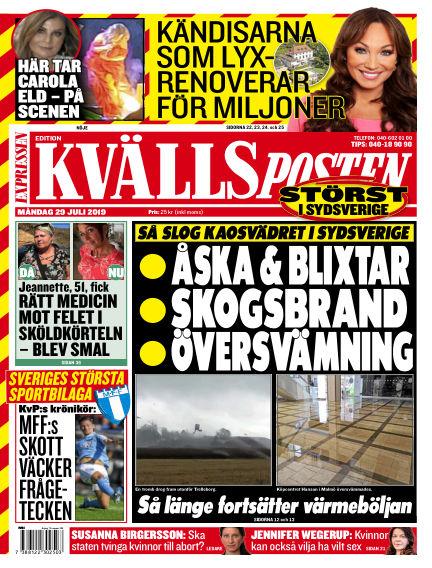 Kvällsposten July 29, 2019 00:00