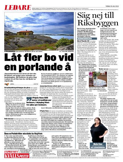 Kvällsposten July 30, 2019 00:00