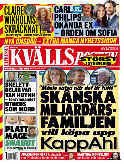 Kvällsposten July 31, 2019 00:00