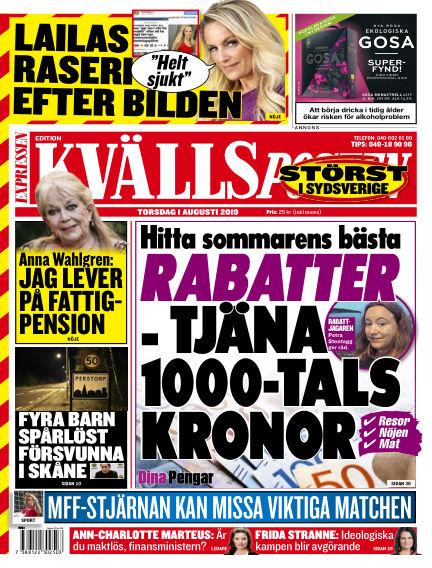 Kvällsposten August 01, 2019 00:00