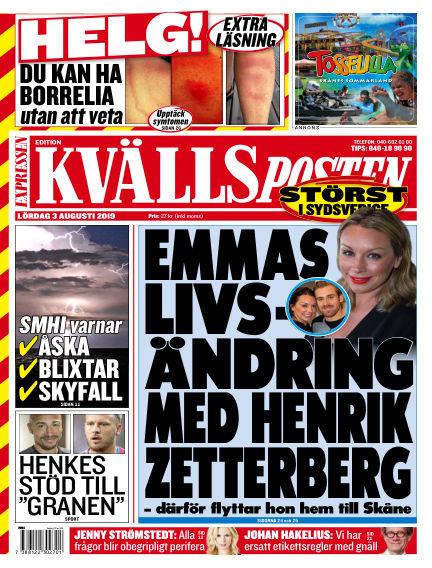 Kvällsposten August 03, 2019 00:00