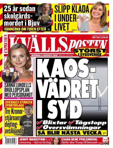 Kvällsposten August 05, 2019 00:00