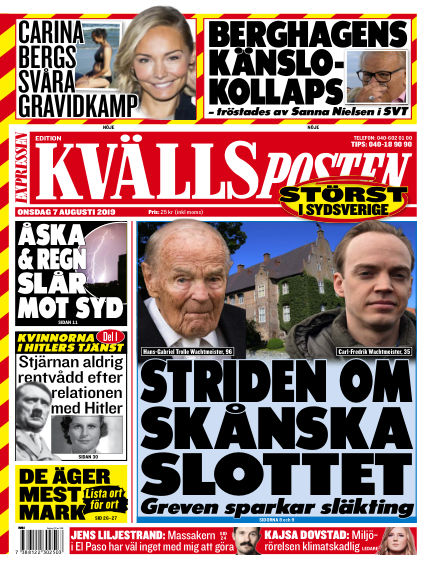 Kvällsposten August 07, 2019 00:00