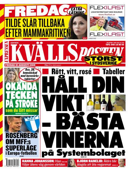 Kvällsposten August 16, 2019 00:00