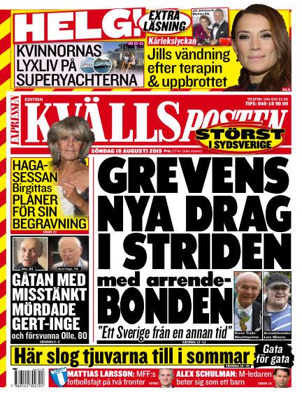 Kvällsposten August 18, 2019 00:00