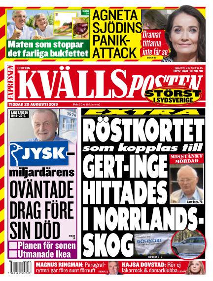 Kvällsposten August 20, 2019 00:00