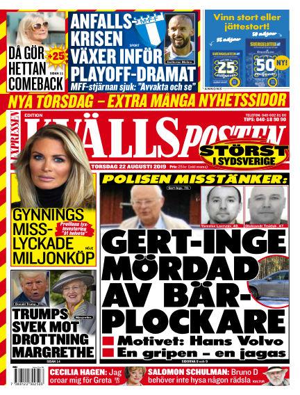 Kvällsposten August 22, 2019 00:00