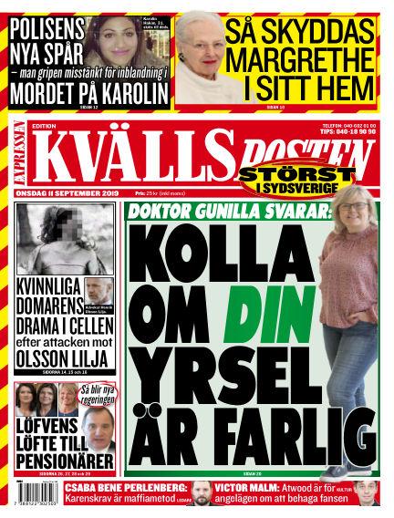 Kvällsposten September 11, 2019 00:00