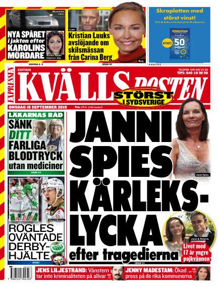 Kvällsposten September 18, 2019 00:00