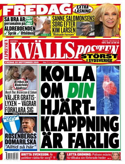 Kvällsposten September 20, 2019 00:00