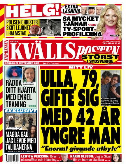 Kvällsposten September 22, 2019 00:00