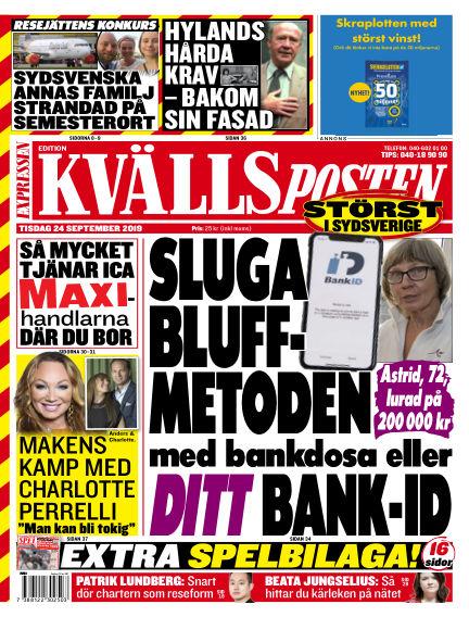 Kvällsposten September 24, 2019 00:00