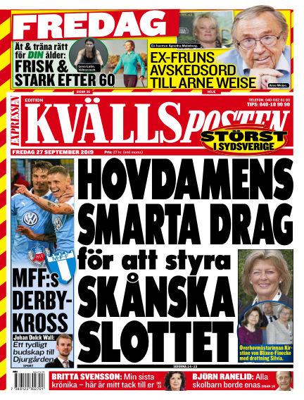 Kvällsposten September 27, 2019 00:00