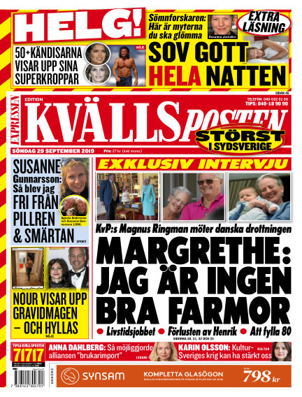 Kvällsposten September 29, 2019 00:00