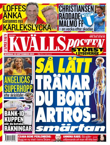 Kvällsposten September 30, 2019 00:00