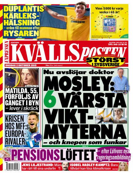 Kvällsposten October 02, 2019 00:00