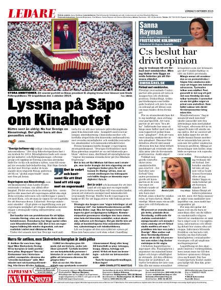 Kvällsposten October 05, 2019 00:00