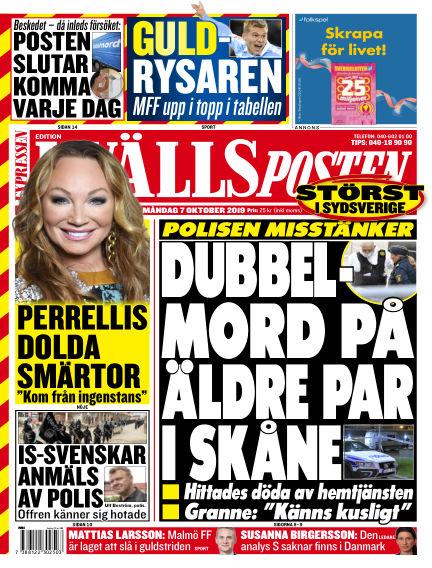 Kvällsposten October 07, 2019 00:00