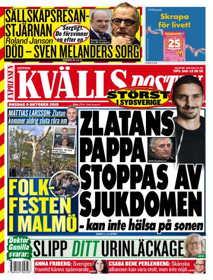 Kvällsposten October 09, 2019 00:00