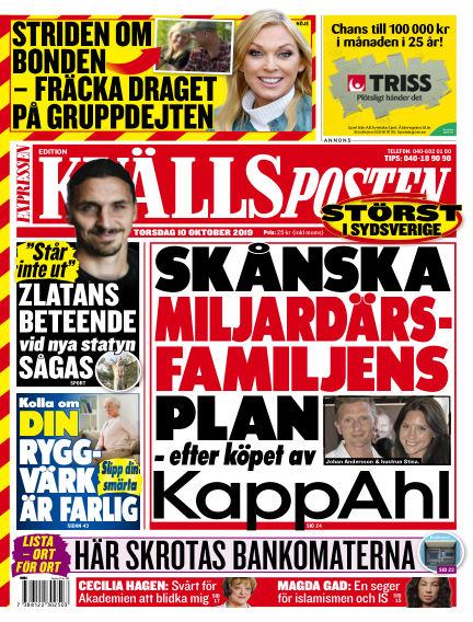 Kvällsposten October 10, 2019 00:00