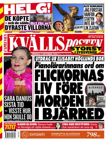 Kvällsposten October 13, 2019 00:00