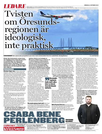 Kvällsposten October 14, 2019 00:00