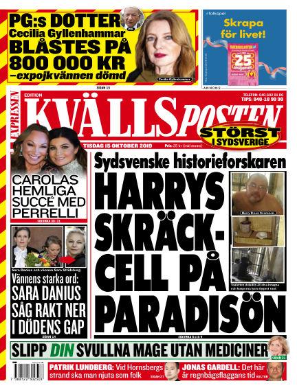 Kvällsposten October 15, 2019 00:00