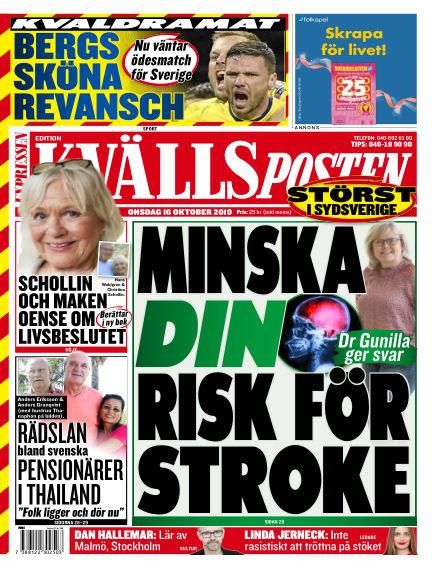 Kvällsposten October 16, 2019 00:00