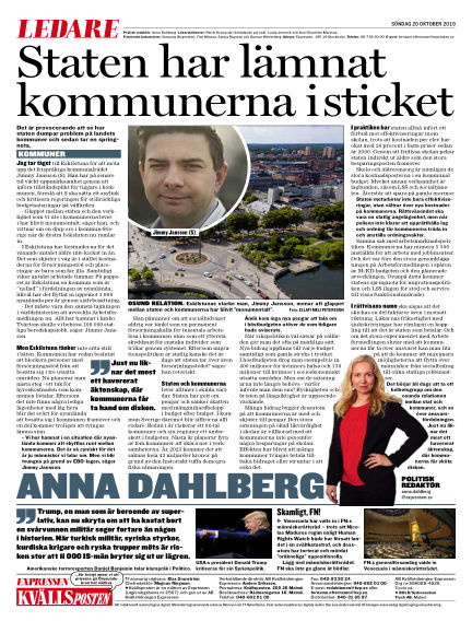 Kvällsposten October 20, 2019 00:00