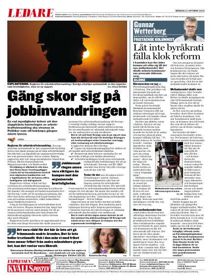 Kvällsposten October 21, 2019 00:00