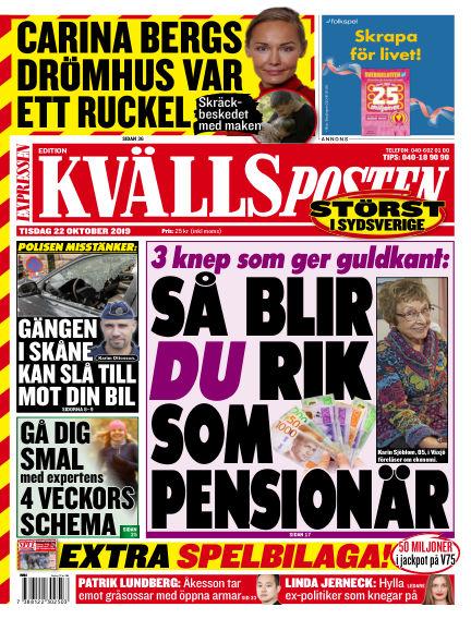 Kvällsposten October 22, 2019 00:00