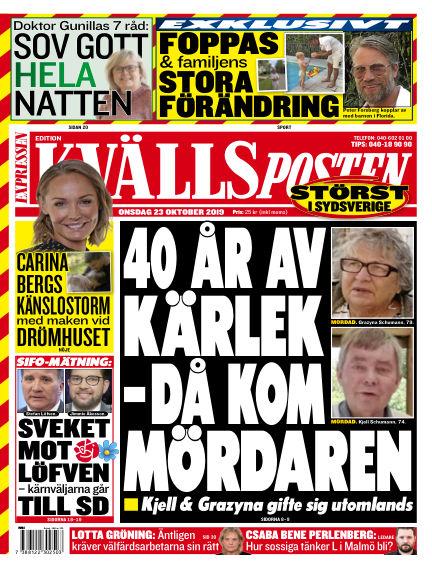Kvällsposten October 23, 2019 00:00