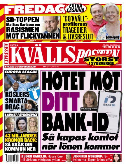 Kvällsposten October 25, 2019 00:00