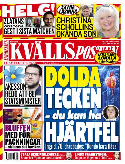 Kvällsposten October 26, 2019 00:00
