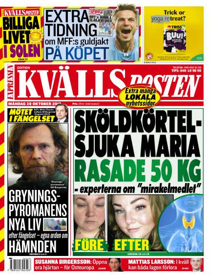 Kvällsposten October 28, 2019 00:00