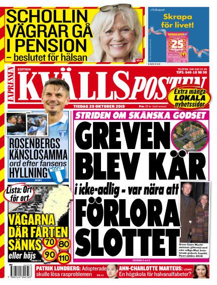 Kvällsposten October 29, 2019 00:00